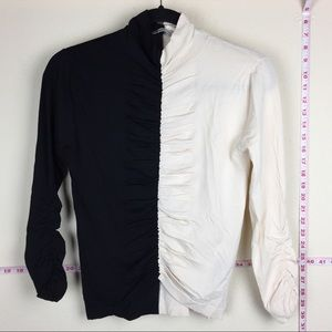 ZARA Knitwear Minimal Collection Black/White Top S